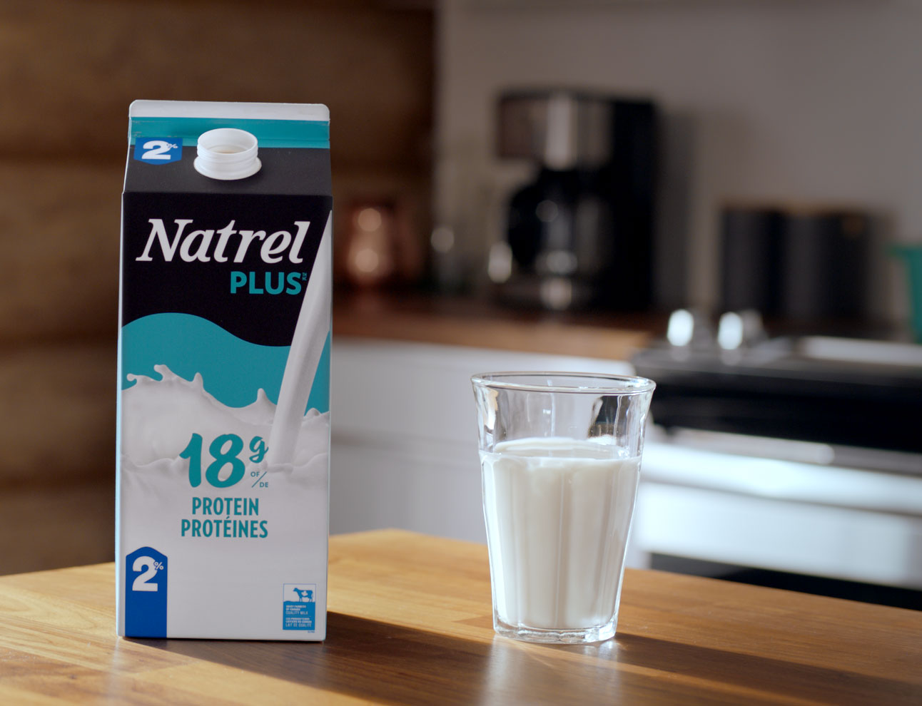 Natrel Plus proteined milk for mornings
