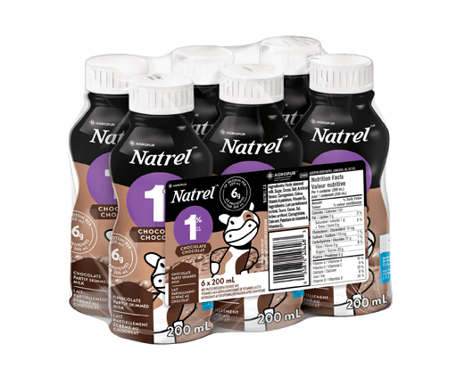 Natrel Chocolate Milk 6x200 mL