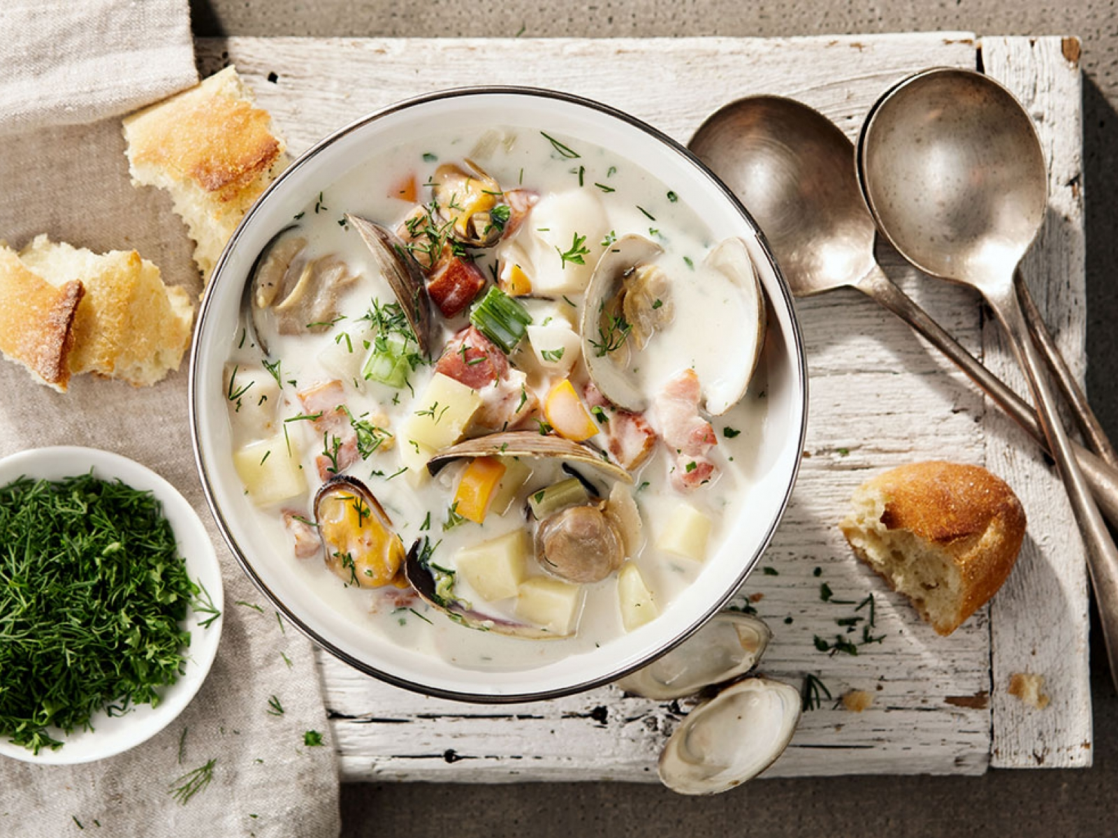 East coast seafood chowder