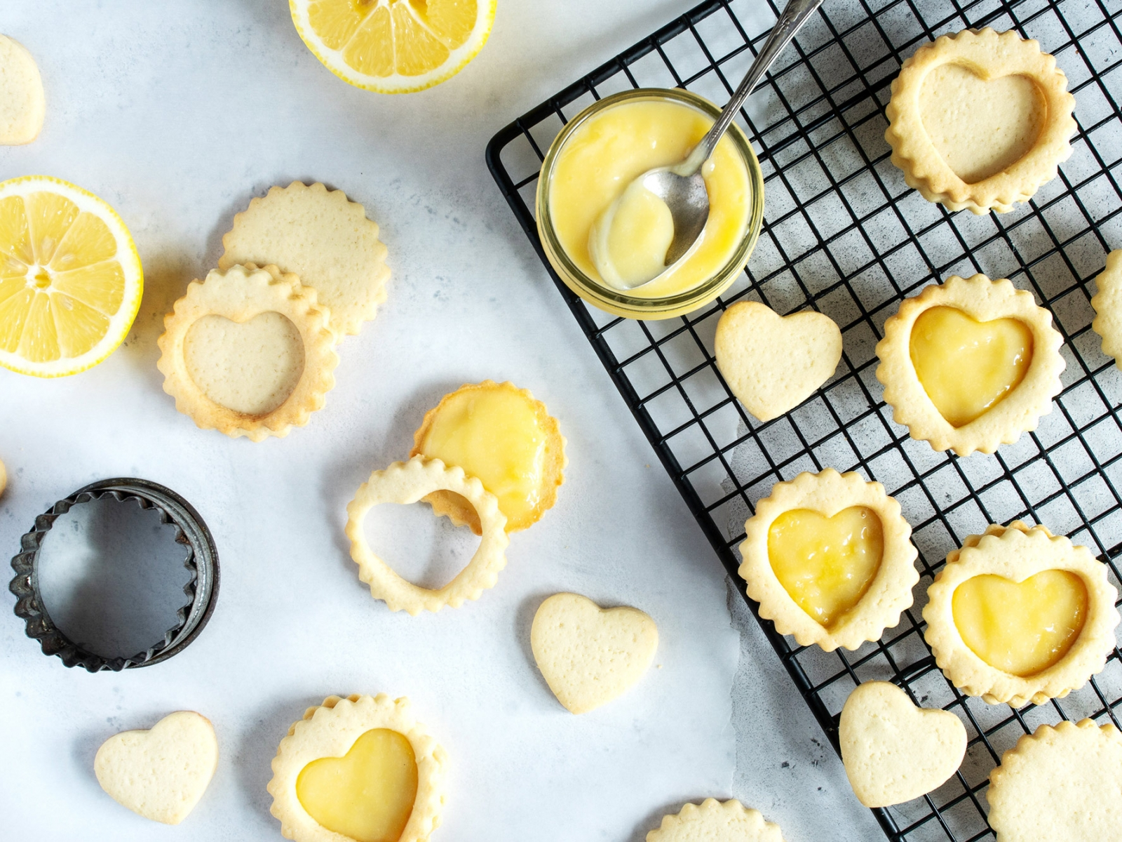 Breton Shortbread Cookies with Lemon Cream
