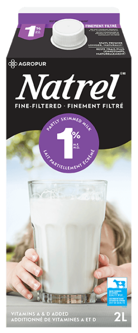 Natrel Fine-filtered Milk 1 % 2 Liters
